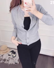 áo khoac len tay dài